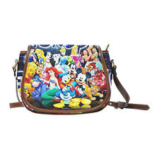 Disney Mickey Mouse Little Mermaid Women Saddle Bag Crossbody Shoulder Bag Purse