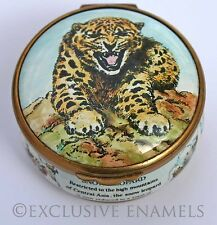 Bilston & Battersea Enamels World Wildlife Collection Snow Leopard Enamel Box