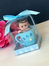 12PC Baby Shower Boy Party Favors Teacup Figurines Recuerdos De Nino Decorations