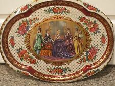 Vintage Tin Metal Serving Tray England Society Women by Daher 1971