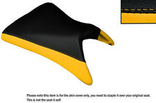 DESIGN 2 BLACK & YELLOW CUSTOM FITS KAWASAKI NINJA ZX6R 03-04 FRONT SEAT COVER