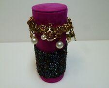 Bracelet jewellery display roll for elasticated bracelets (Fuchsia Pink)
