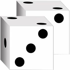 """Pack of 2 Cardboard Dice Boxes - 6.5"""" - Fun Party Decorations/Gift Boxes"""