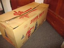 Vintage Silver Brite 7 1/2 Ft Aluminum Christmas Tree 110 Branches Orig Box RARE