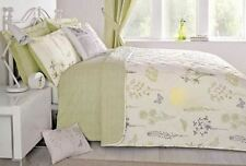 MEADOW BUTTERFLY FLORAL GREEN REVERSIBLE 230X200CM BEDSPREAD #EUQINATOB *CUR*