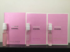 Lot of 3 Chanel Chance Sampler:  Chance EDT, Eau Tendre, Eau Fraiche 1.5ml each