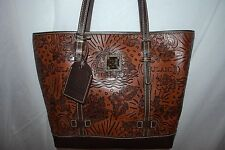 NWT DOONEY AND BOURKE DISNEY AULANI SHOPPER TOTE HANDBAG COGNAC LEATHER RARE