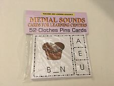 Medial Sounds - Cards for Learning Center 54 Cards- Letters Phonic Teaching