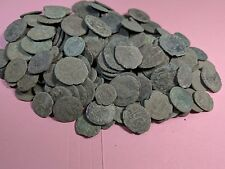 LOT of 10 MEDIUM+  QUALITY UNCLEANED & UNSORTED ANCIENT ROMAN COINS + 1  cleaned