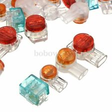 100PCS  UY/ UY2 / UR3 / UB Data Phone Wire Butt Splice Connectors Red Clear