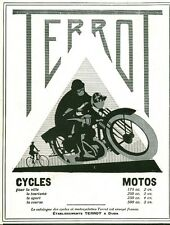 Publicité ancienne cycles motos TERROT  1929 ( P 37 ) Issue de magazine