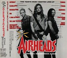 AIRHEADS OST JAPAN CD BVCA-649 Anthrax Prong Motorhead White Zombie Candlebox