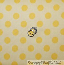 BonEful Fabric Cotton Quilt Yellow Tone POLKA DOT Sm Calico Baby Girl Boy SCRAP
