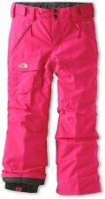 The North Face Freedom Insulated Ski Snow Pants Girls Passion Pink XL 18 New