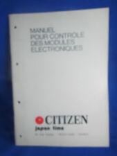 ancien livre catalogue citizen manuel horloger horloge montre  2012 2013