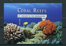 St Vincent & The Grenadines 2015 MNH Coral Reefs 1v S/S II Marine Corals Fish