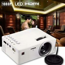 Home Cinema Theater Multimedia LED LCD Projector HD 1080P AV TV HDMI White EU WT