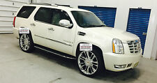 "24"" Wheels & Tires Cadillac Escalade Platinum Style Chrome Rims TPMS EXT ESV  26"