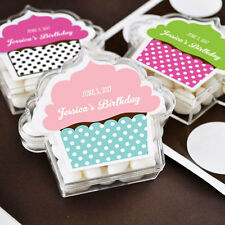24 Personalized Acrylic Cupcake Birthday Favor Boxes