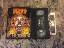 KISS PSYCHO CIRCUS OOP 3D VIDEO w/GLASSES + NO CD INCLUDED LIMITED EDITION 1998!