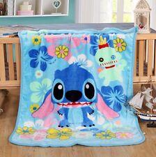 """Disney LILO STITCH Warm Plush Silky Flannel Blanket Throw Bedding Rug 39""""x55"""""""