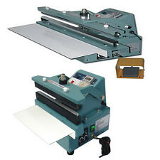 "24"" Automatic / Manual Constant Heat Sealer 5/8"" Seal Foil Bag Thick Plastic"