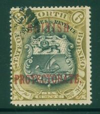 [JSC] 1899 BRITISH NORTH BORNEO ~COAT OF ARMS #SC92 A41 BRN &BLK~ERROR LEFT