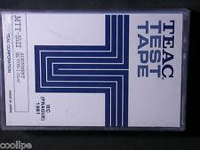 TEAC Blank Alignment Test Tape MTT-5522 12μm Mint IEC I Recording Characteristic