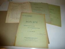ANNEES 30 PARTITIONS SONATES FRANCOEUR CERVETTO D'ANDRIEU VIOLONCELLE PIANO