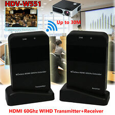 HDV-W551 HDMI AV Video Audio Extender 60G Transmitter Receiver Wireless HD 1080P
