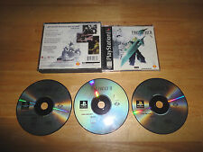 FINAL FANTASY VII 7 (1997) SONY PLAYSTATION 1 PS1 - Case and 3 Discs
