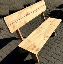 Garten Bank 130 cm FSC Holz massiv Lärche Parkbank mit Lehne Neu OVP Lerche