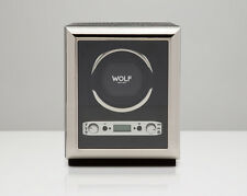 Wolf 2.7 EXOTIC Single Automatic Watch Winder Battery Operated Black NEW