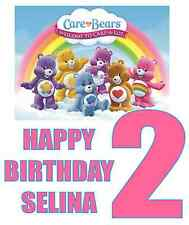 """Care Bears Birthday / Age Iron On Transfer, 5""""x5.5""""  for LIGHT Colored Fabric"""