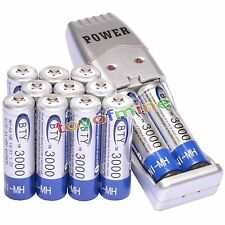 12x AA 3000mAh 1.2 V Ni-MH rechargeable battery BTY with Charger USB Powdered