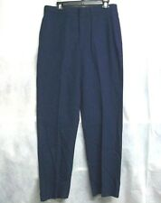 U.S. AIR FORCE 1991 NEW *UNHEMMED* TROPICAL AF BLUE 1608 TROUSERS PANTS - 34 R