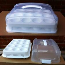 Cupcake Carrier Caddy Storage Transport Aid Cakes Muffins Buns Kitchen Container
