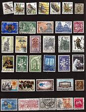 32T5 BELGIQUE 34 timbres oblitérés ,faciale en francs ,sujets divers