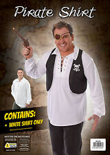 PIRATE SHIRT WHITE SAILOR MALE MAN FANCY DRESS PARTY ONE SIZE