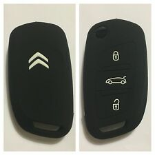 CITROEN C1 C2 C3 C4 C5 DS4 DS5 C0 BLACK CAR FLIP KEY SILICONE COVER CASE REMOTE