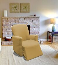 LINEN JERSEY RECLINER STRETCH SLIPCOVER, FURNITURE COUCH COVER, RECLINER COVER