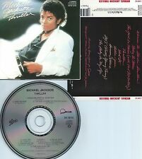 MICHAEL JACKSON-THRILLER-1982-USA-EPIC/QUINCY JONES RECORDS-CMU P 98-CD-MINT-