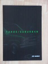 Chevrolet Tahoe + Suburban Prospekt / Brochure, English edition