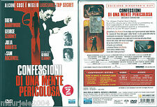 Confessioni di una mente pericolosa (2002) 2DVD NEW George Clooney Julia Roberts