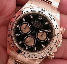 Rolex Cosmograph DAYTONA 116505 Everose Gold Oyster Black Index Dial 40MM
