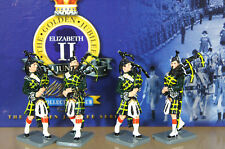 BRITAINS 40329 QEII GOLDEN JUBILEE GORDON HIGHLANDERS PIPE & DRUM BAND Set 1 na