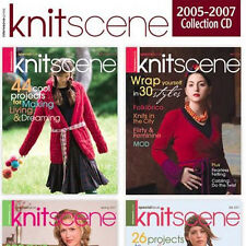 4 Issues on CD: KNITSCENE MAGAZINE 2005 - 2007 Knitting Projects