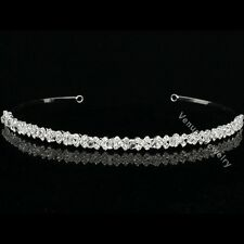 Bridal Bridesmaid Flower Girl Rhinestones Crystal Wedding Tiara Headband 8255