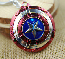 New Cool Captain America Shield Rotatable Zinc Alloy Metal Ring Key Chain