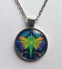 """AURORA 4 ANGEL PICTURE PENDANT IN SILVER 16 - 22"""" CHOOSE CHAIN SIZE IN GIFT BAG."""